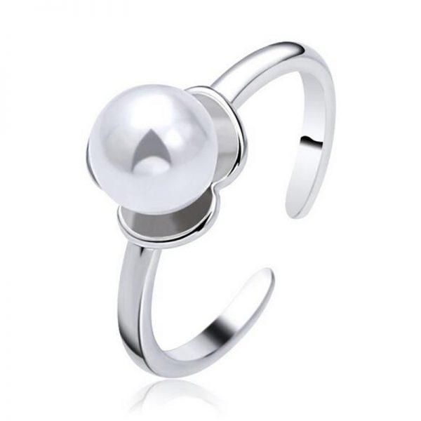 Anillo adaptable de Plata con Perla de rio de 24Joyas