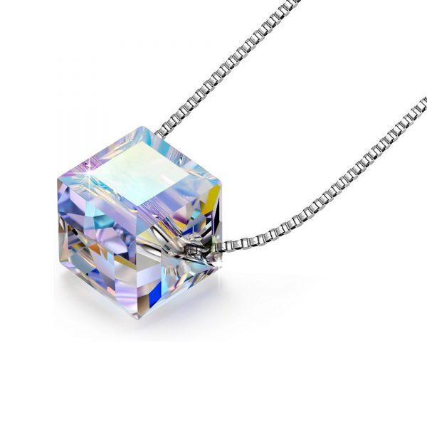 Colgante Cubo de Cristal