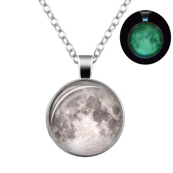 Colgante Luna Plateada