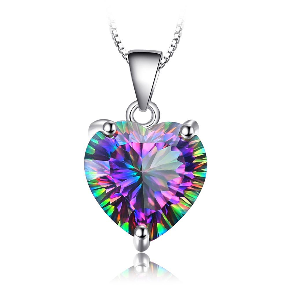 8296c8110aa6 Colgante Corazón Arcoiris de Topacio y Plata de Ley 925 y cadena de plata de  45 centímetros – 24Joyas tienda de compra de relojes y joyas