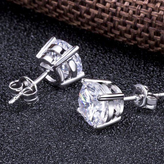 Pendientes de Brillantes de Plata con 4 Garras (7)