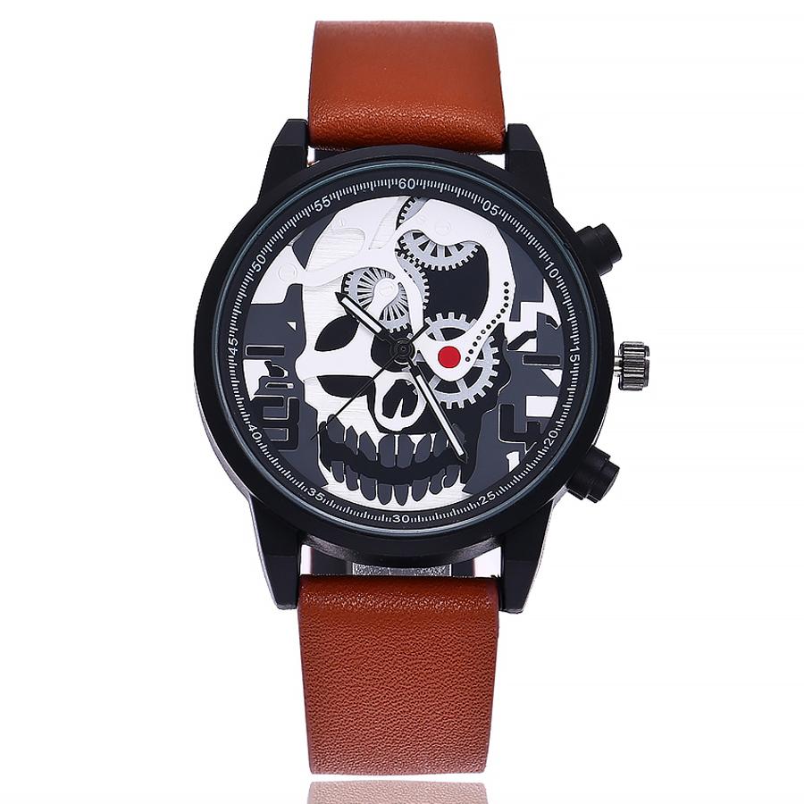 842362d7bd59 Reloj Calavera de Cuarzo y Pulsera de Cuero para Mujer y Hombre – 24Joyas  tienda de compra de relojes y joyas