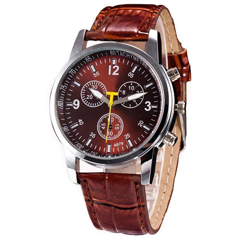 bb405ee13175 Reloj Clásico de Cuarzo con Pulsera de Cuero para Hombre – 24Joyas tienda  de compra de relojes y joyas