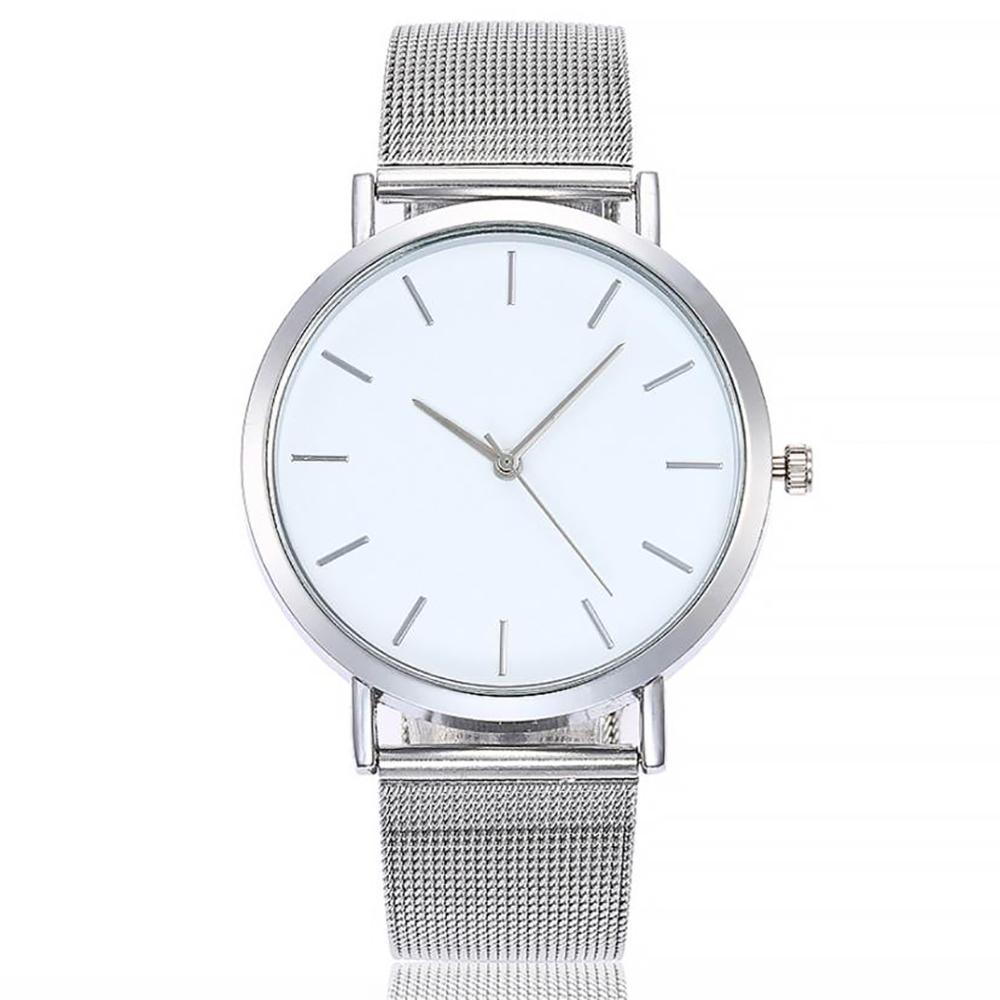 6380de16a145 Reloj Minimal Plateado de Cuarzo con Pulsera de Acero Inoxidable Mujer –  24Joyas tienda de compra de relojes y joyas