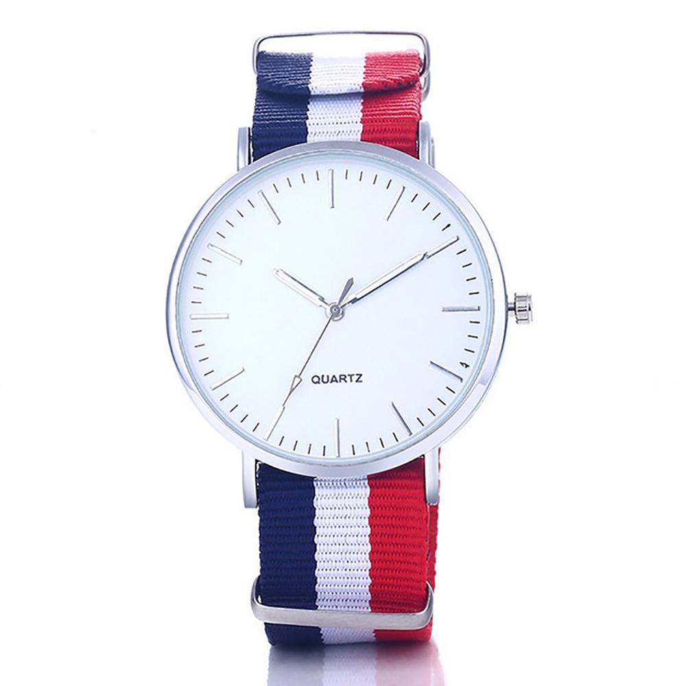 01acc2c0a760 Reloj Moda Multicolor de Cuarzo con Pulsera Correa de Tela para Hombre y  Mujer – 24Joyas tienda de compra de relojes y joyas