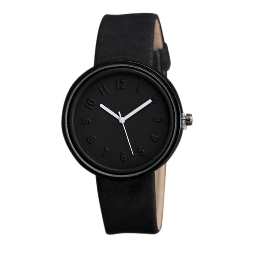 bba84b23eb54 Reloj Negro Minimalista de Cuarzo con Correa de Tela para Mujer – 24Joyas  tienda de compra de relojes y joyas