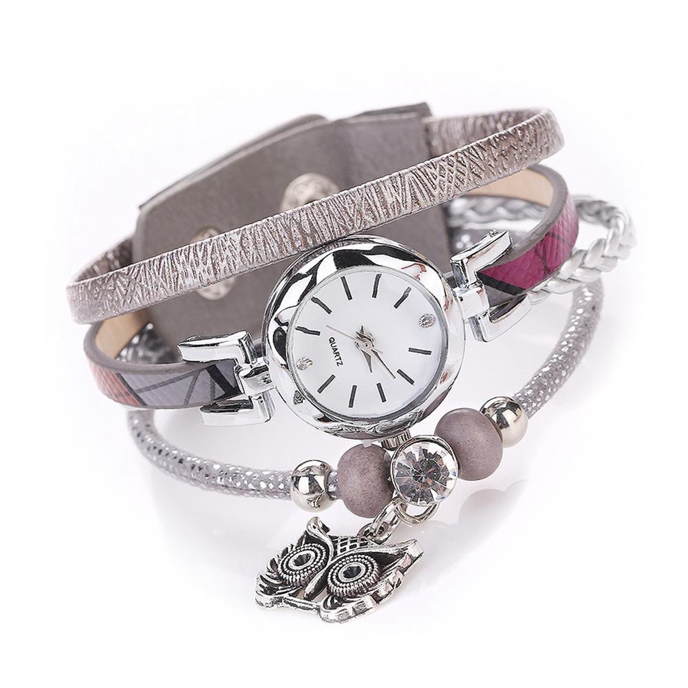 8b7db6d9bf64 Reloj Pulsera Femenina de Cuarzo Colgante de Buho para Mujeres y Chicas a  la Moda – 24Joyas tienda de compra de relojes y joyas