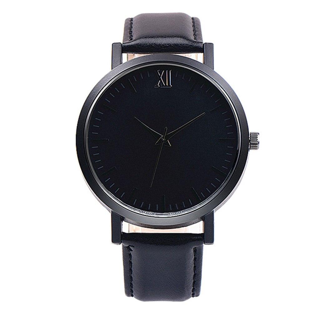 218f85db711a Reloj Minimalista Unisex Negro XII de Cuarzo con Correa de Cuero Negra –  24Joyas tienda de compra de relojes y joyas