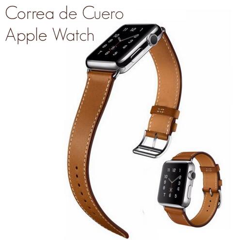 Últimas tendencias reloj mirada detallada Correa de Cuero para Reloj Apple Watch Serie 4/3/2/1 Pulsera elegante para  iWatch